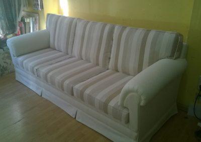 tapizado se sofá rayas  blancas