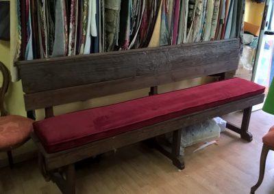 Tapizado trabajo especial sillas de iglesia