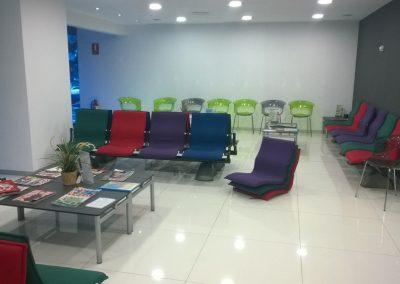 Tapizado especial clinica sala de espera
